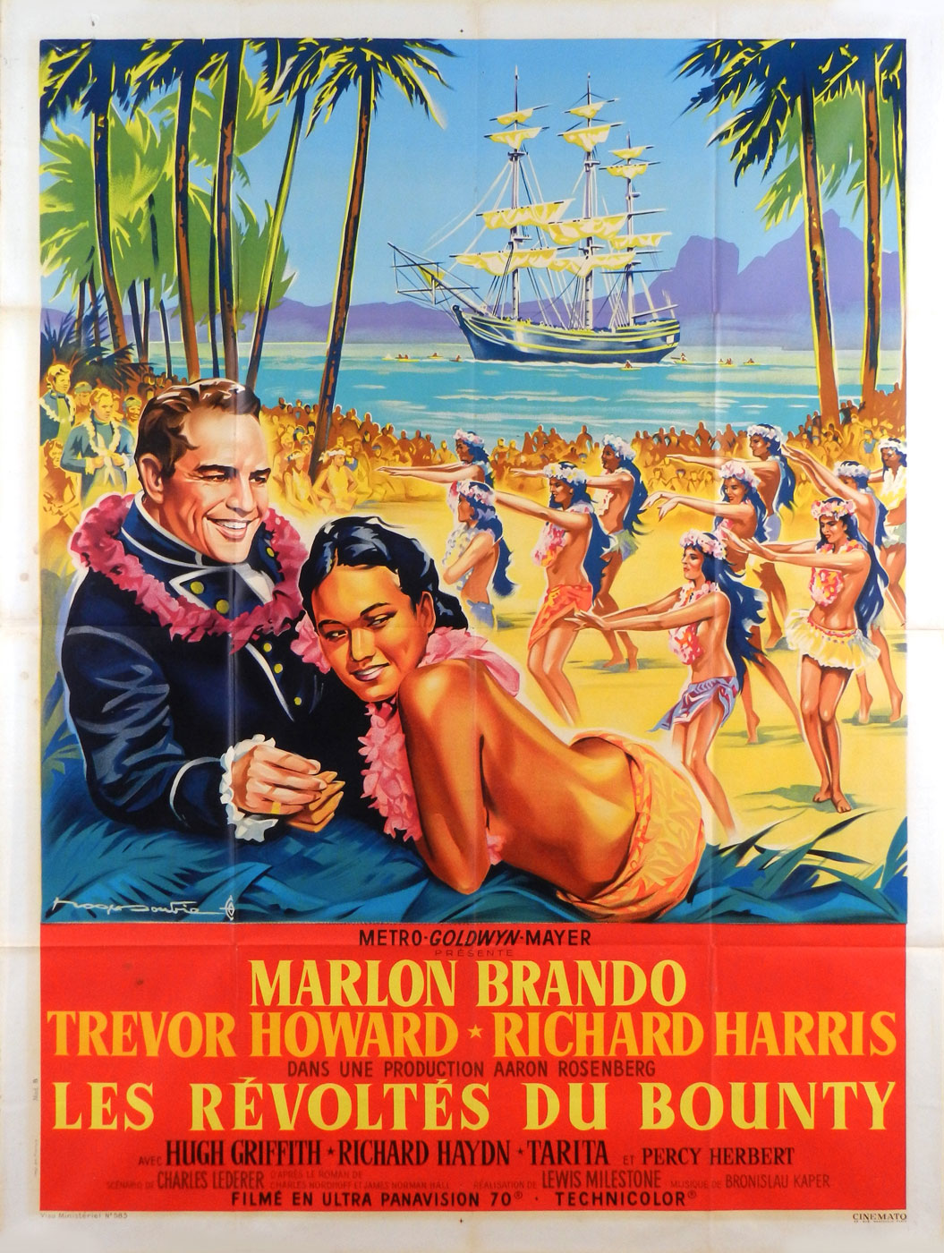 Mutiny On The Bounty by Lewis Milestone (47 x 63 in)