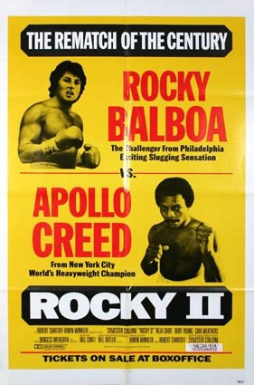 Rocky Ii by Sylvester Stallone (27 x 41 in)
