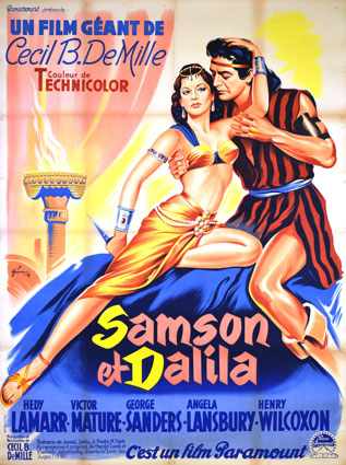 Samson And Delilah by Cecil B De Mille (47 x 63 in)