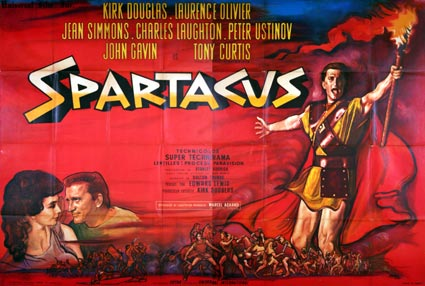 Spartacus by Stanley Kubrick (63 x 94 in)