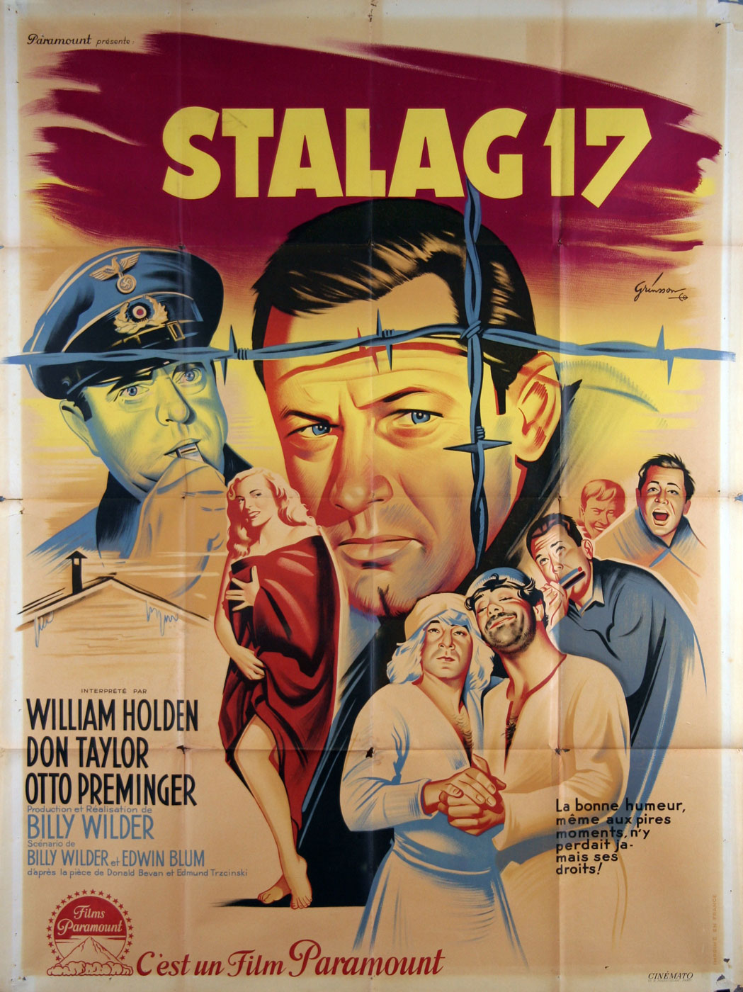 Stalag 17 par Billy Wilder (120 x 160 cm)