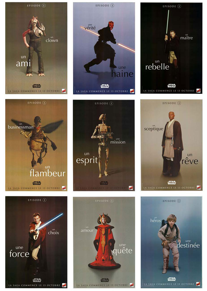 Star Wars : Episode 1 (set Of 9 Posters) by Georges Lucas (47 x 63 in)