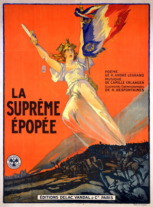 Supreme Epopee (la) by Henri Desfontaines (47 x 63 in)