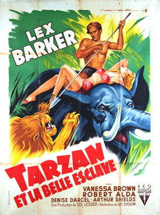 Tarzan And The Slave Girl by Lee Sholem (47 x 63 in)
