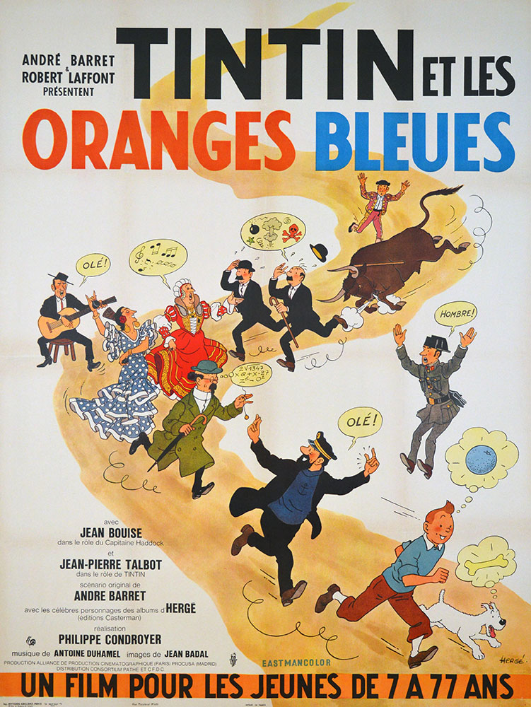 Tintin Et Les Oranges Bleues by Philippe Condroyer
