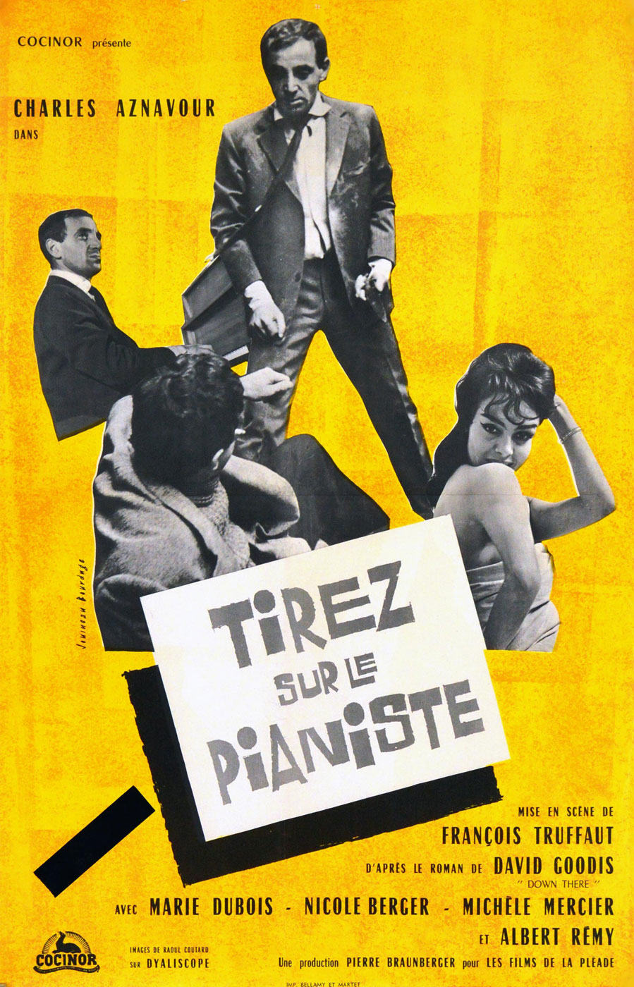 Tirez Sur Le Pianiste by Francois Truffaut (17 x 23 in)