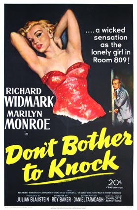 Don't Bother To Knock by Roy Baker (27 x 41 in)