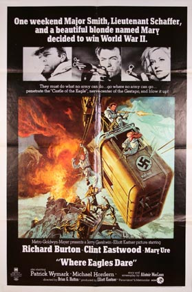 Where Eagles Dare ( R) by Brian Hutton (27 x 41 in)