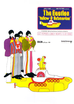 Yellow Submarine by George Dunning (36 x 52 in)