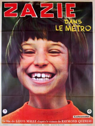 Zazie Dans Le Metro by Louis Malle (47 x 63 in)