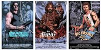 ESCAPE FROM NEW YORK - THE THING - BIG TROUBLE IN LITTLE CHINA (set of 3 prints)